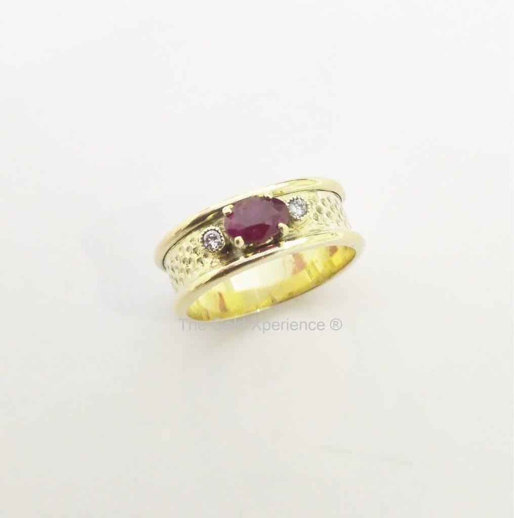 Ring goud Dimple dekluxe