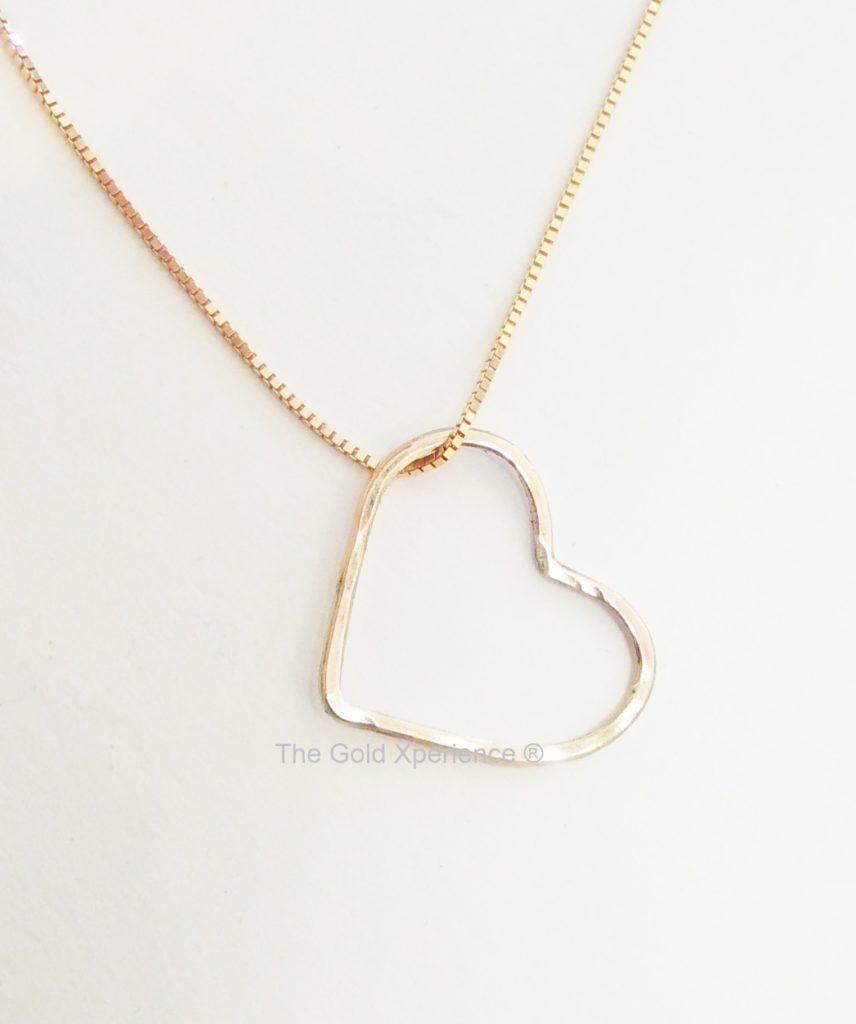 Aanbieding gouden hart ketting, hanger