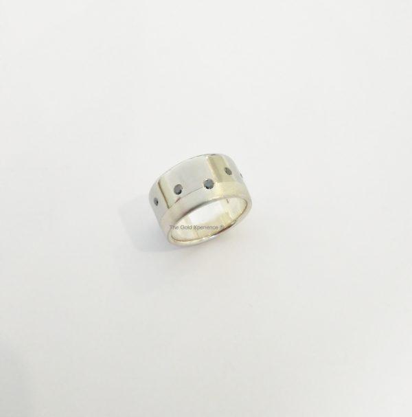 GDX Galary ring zirkonium zilver zwarte diamant