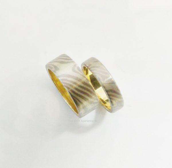 Trouwringen goud zilver titanium