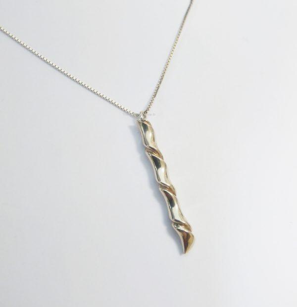 Zilveren hanger met goud