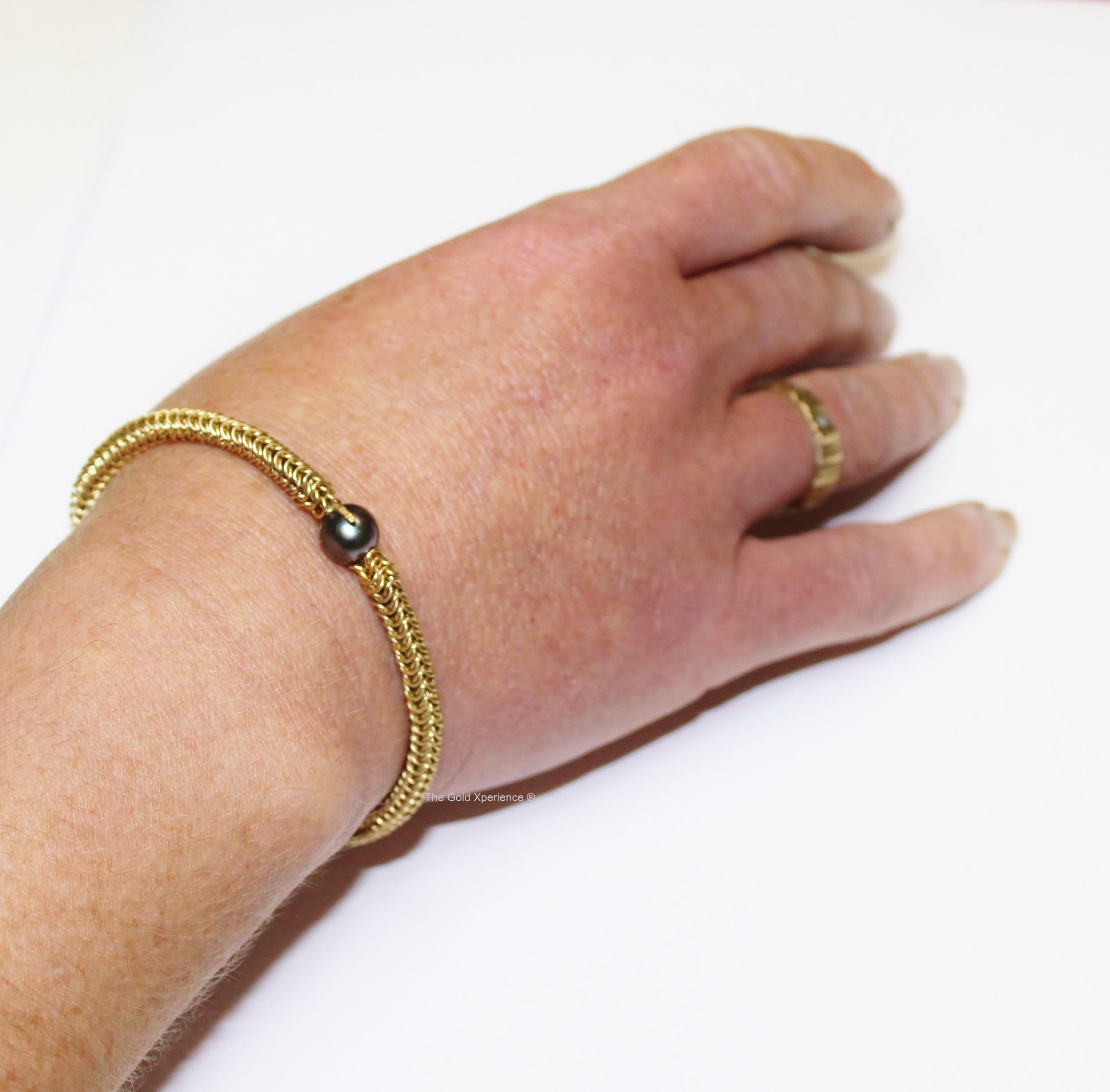 Armband zwarte Tahitiparel Maxima