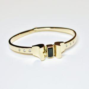 armband goud toermalijn diamant amsterdamse school exclusieve juwelen handgemaakt