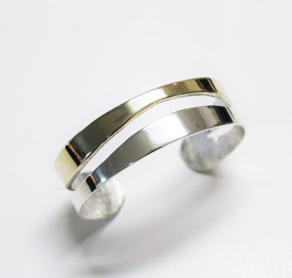 Klemarmband spangarmband goud zilver