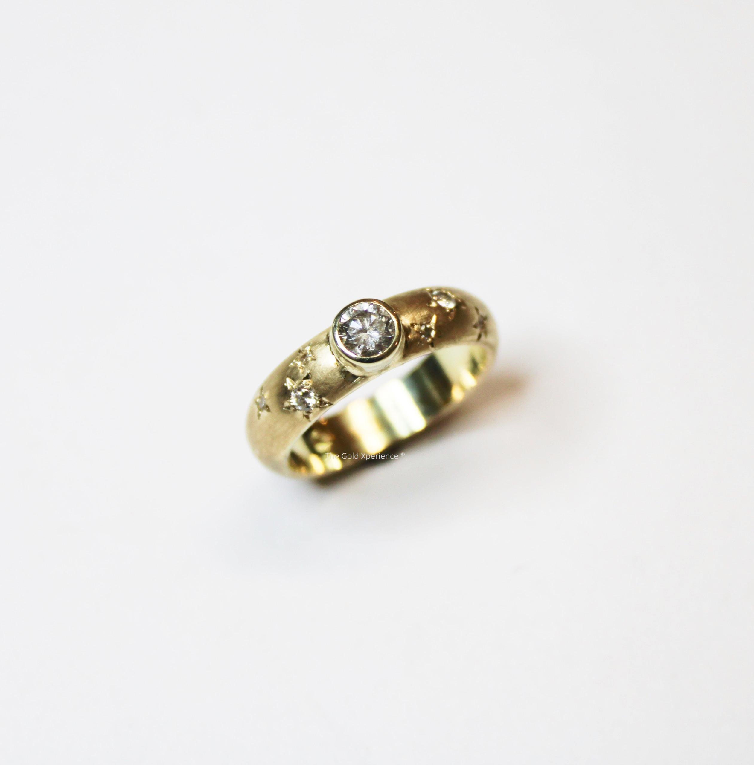 ring goud sterren diamant