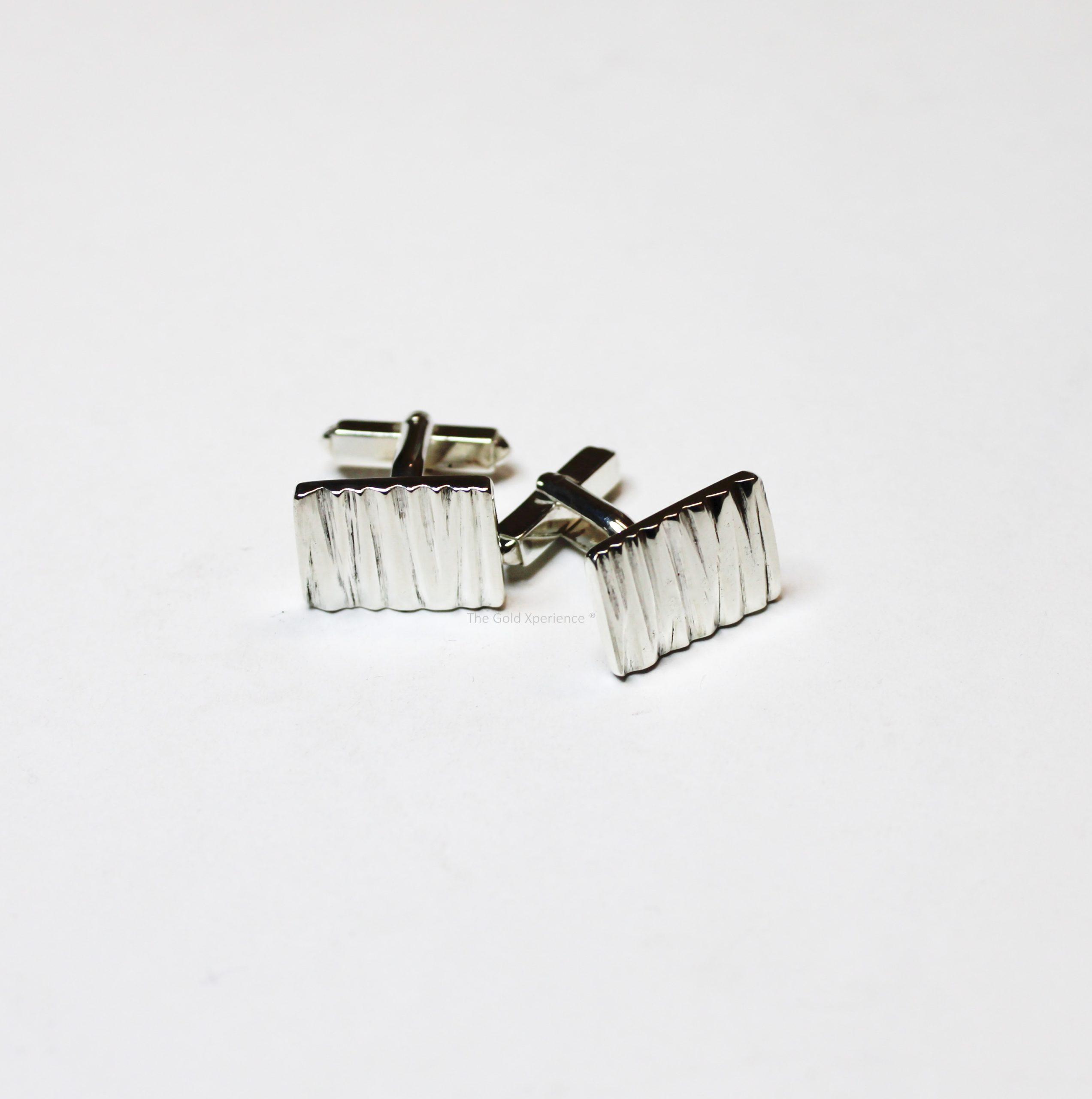 Manchetknopen luxe handgemaakt zilver Solid