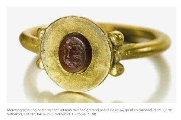 Merovingische ring met een intaglio