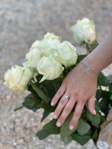 verlovingsring, platina, geen Buddha to Buddha, mooi, diamant, vlecht, wit
